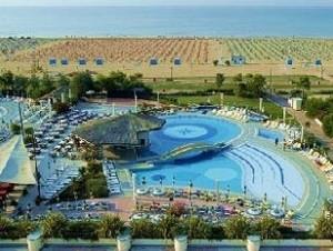 Hotelové komplexy v Bibione jsou na vysoké úrovni /